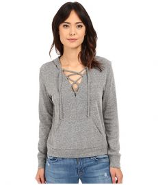 Lanston Lace-Up Hoodie Heather at 6pm