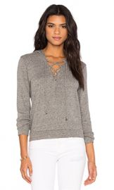 Lanston Lace Up Hoodie in Heather from Revolve com at Revolve