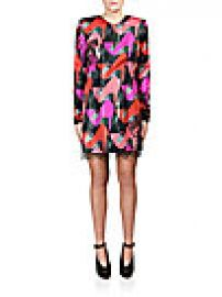 Lanvin - Lace-Trim Shoe-Print Dress at Saks Off 5th