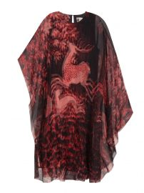 Lanvin Deer Print Sheer Dress at Farfetch