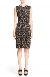 Lanvin Leopard Jacquard Sleeveless Sheath Dress at Nordstrom
