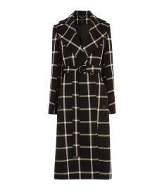 Large Check Midi Coat at Karen Millen