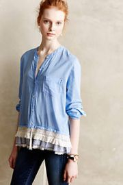 Larkin Laced Buttondown at Anthropologie