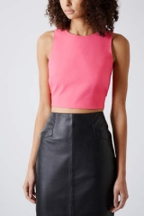 Laser Cut Crop Top at Topshop