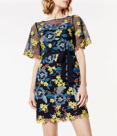Laser-Cut Floral Dress by Karen Millen at Karen Millen