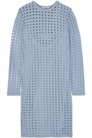 Laser-cut stretch-jersey mini dress at The Outnet
