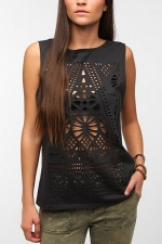 Lasercut muscle tee by Title Unknown at Urban Outfitters