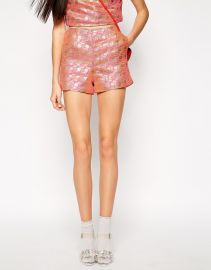 Lashes of London Geo Jacquard High Waist Short at Asos