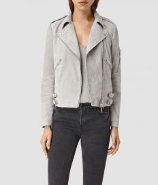 Latham Suede Biker Jacket at All Saints