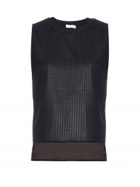 Lattice-lace overlay sleeveless top at Matches