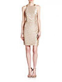 Laundry by Shelli Segal - Embellished Metallic Jersey Dress at Saks Fifth Avenue