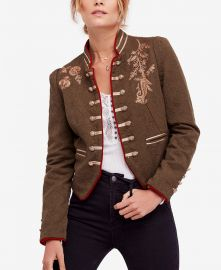 Lauren Embroidered Cotton Band Jacket at Macys