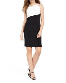 Lauren Ralph Lauren Color-Blocked Matte Jersey Dress at Bloomingdales