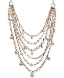Lauren Ralph Lauren Gold-Tone Crest   Imitation Pearl Multi-Row 18 at Macys