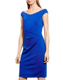 Lauren Ralph Lauren Off-The-Shoulder Sheath Dress in Blue at Bloomingdales
