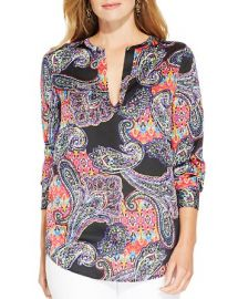 Lauren Ralph Lauren Plus Paisley Print Tunic at Bloomingdales