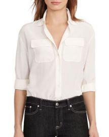 Lauren Ralph Lauren Silk Utility Blouse at Bloomingdales