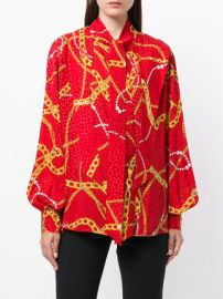 Lavalliere Chain and Jewel print blouse at Farfetch