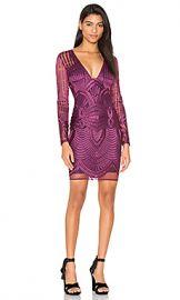 Lavish Alice Embroidered Mesh Plunge Dress in Premium Purple from Revolve com at Revolve