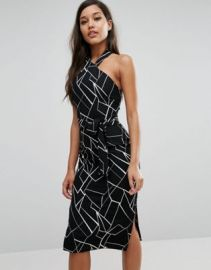 Lavish Alice Halterneck Midi Dress at asos com at Asos