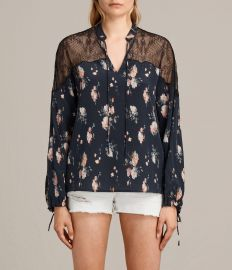 Laya Meadow Silk Top by All Saints at All Saints