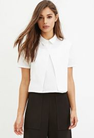 Layered Boxy Collared Top  Forever 21 - 2000156283 at Forever 21