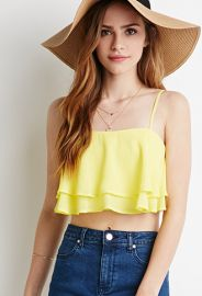Layered Cami Crop Top  Forever 21 - 2000054365 at Forever 21