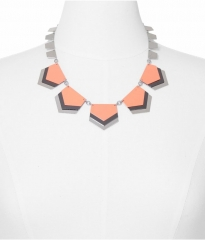 Layered Chevron Necklace in Orange at Express