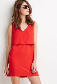 Layered Crepe Dress  Forever 21 - 2000154591 at Forever 21