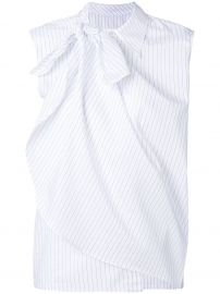 Layered Stripe Sleeveless Shirt by MM6 Maison Margiela at Farfetch