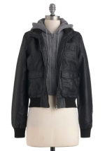 Layered hoodie jacket at Modcloth