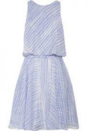 Layered printed silk-chiffon mini dress at The Outnet