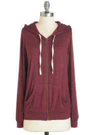 Layers Well with Others Hoodie in Burgundy at ModCloth