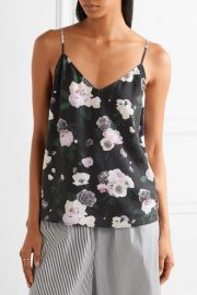 Layla floral-print washed-silk camisole by Equipment at Net A Porter