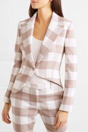 Lazio asymmetric gingham wool-blend twill blazer at Net A Porter