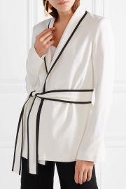 Le Tuxedo crepe wrap jacket by La Ligne at Net A Porter