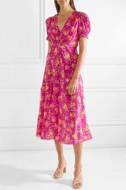 Lea floral-print silk crepe de chine midi dress at Net A Porter