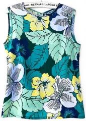 Leaf print blouse at She Inside