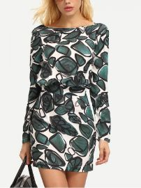 Leaf print dress at SheIn