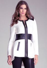 Leah Contrast Coat at Bebe