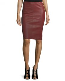 Leather Pencil Skirt at Neiman Marcus