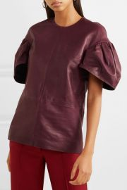 Leather top at Net A Porter