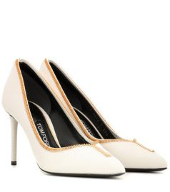 Leather zip-up pumps by Tom Ford at Mytheresa