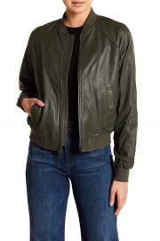 Leather Bomber Jacket at Nordstrom Rack