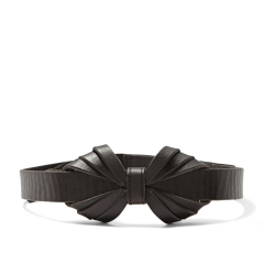 Leather Bow Belt at Fossil