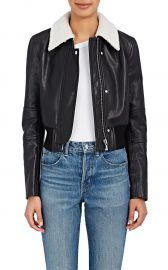 Leather Crop Bomber Jacket by Helmut Lang at Barneys Warehouse