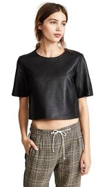 Leather Crop Tee at Shopbop
