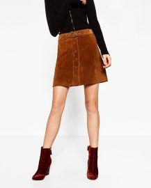 Leather Mini Skirt at Zara