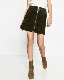 Leather Mini Skirt at Zara