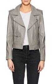 Leather Moto Jacket  Barneys New York at Barneys Warehouse